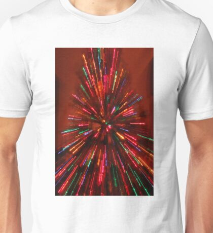 red and crazy christmas Unisex T-Shirt