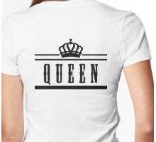 "queen ""Design Couple"" Womens Fitted T-Shirt"