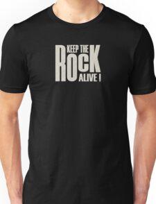 Keep The Rock (white) Unisex T-Shirt