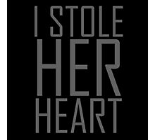 "i stole Her Heart ""Design Couple"" Photographic Print"