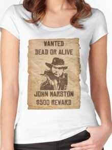 Wanted dead or alive Women's Fitted Scoop T-Shirt