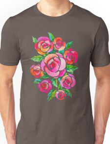 watercolor vintage roses Unisex T-Shirt