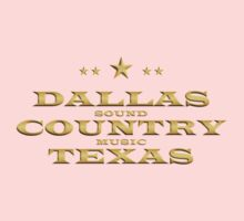 Golden Dallas Country Texas Baby Tee
