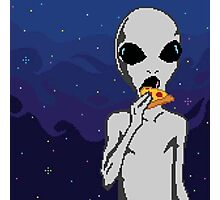 Aliens like Pizza, too Photographic Print