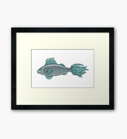 The Feathery Fish Framed Print