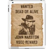 Wanted dead or alive iPad Case/Skin