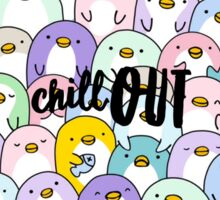 Chill Out Penguins Sticker