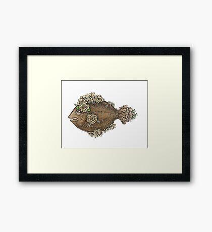The Flower Fish  Framed Print