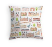 Heidelberg buildings Throw Pillow