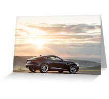 The New Jaguar F Type Coupe ... Greeting Card