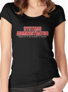 Systems Administrator (Red) Women's Fitted Scoop T-Shirt