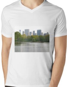 A Little Nature in a Big City Mens V-Neck T-Shirt