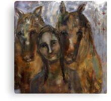 She Loves Horses Canvas Print