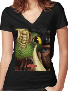 How To Train Your Dragon 2 Women's Fitted V-Neck T-Shirt