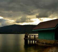 Pier in Menthon.....Lake Annecy.....France by Imi Koetz