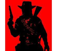 Cowboy silhouette Photographic Print