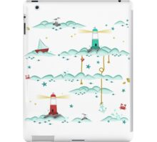 Maritimes Muster - I love the Baltic Sea - weiß iPad Case/Skin