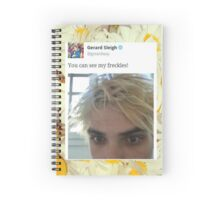 Gerard Way Freckles Tweet Spiral Notebook