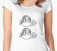 Birds in Flight Women's Fitted Scoop T-Shirt