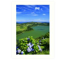 Furnas Lake, Azores Art Print