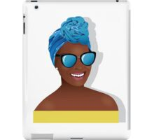 Beautiful black woman hair scarf iPad Case/Skin
