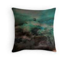 Dystopian Flood Throw Pillow