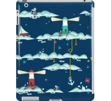 Maritimes Muster - I love the Baltic Sea - dunkelblau iPad Case/Skin