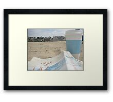 All I Need is Coffee, a Good Book and the Beach Framed Print