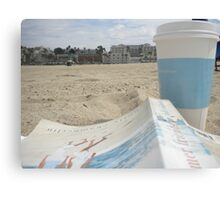 All I Need is Coffee, a Good Book and the Beach Canvas Print