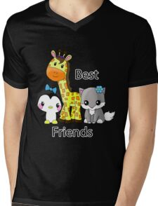 Best Friends Mens V-Neck T-Shirt