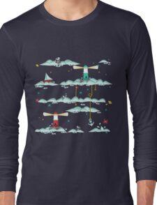 Maritimes Muster - I love the Baltic Sea - dunkelblau Long Sleeve T-Shirt
