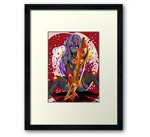 Purple Insanity Mlp Anthro Changeling Oc Framed Print