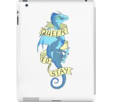 queer to stay iPad Case/Skin