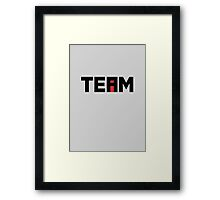 The i In TEAM Framed Print