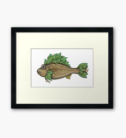 The Leafy Fish Framed Print