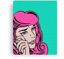 Sad Girl - Pink Canvas Print