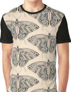 swallowtail butterfly pale peach black Graphic T-Shirt