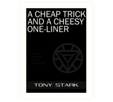 A Cheap Trick and a Cheesy One-Liner Art Print