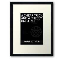 A Cheap Trick and a Cheesy One-Liner Framed Print
