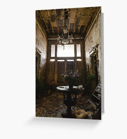 Funeral Home Entranceway Greeting Card