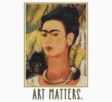 Frida Kahlo Self Portrait  Art Matters Kids Tee
