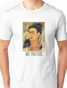 Frida Kahlo Self Portrait  Art Matters Unisex T-Shirt