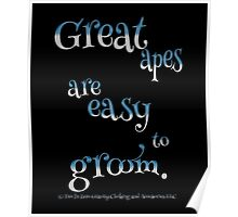 Funny - Great Apes Are Easy To Groom  Poster
