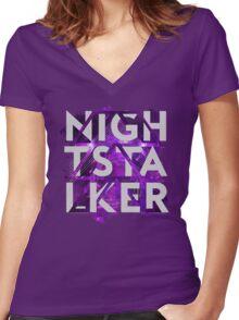 Hunter: Nightstalker Women's Fitted V-Neck T-Shirt