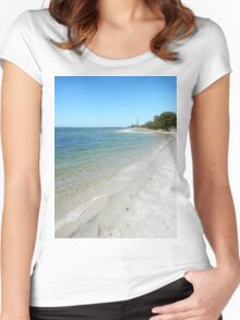 Tranquil Broadwater Women's Fitted Scoop T-Shirt