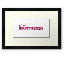 SUP BROTENDO  Framed Print