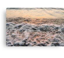 Bubbles in Motion - Playing in the Surf at Sunrise Canvas Print