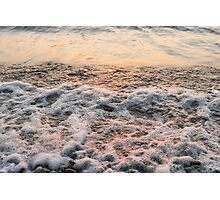 Bubbles in Motion - Playing in the Surf at Sunrise Photographic Print