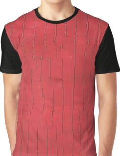 Abstract Red Line Glitch Pale Graphic T-Shirt