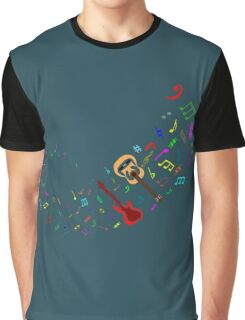 Colour Me Guitar Galaxy Graphic T-Shirt